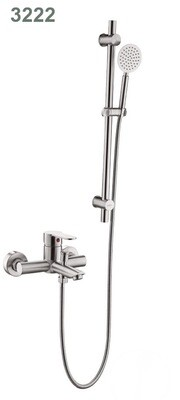 Смеситель для ванны душа комплект из нержавеющей стали с штангой для держателя лейки.