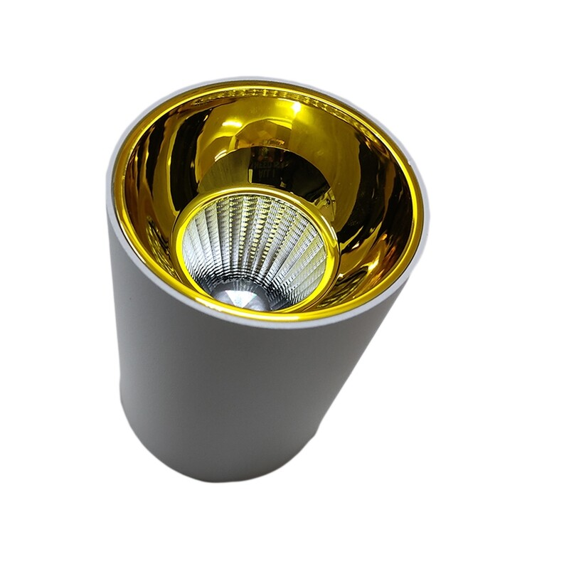 Light concepts COB reflector variant light white champagne gold
