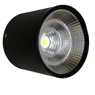 COB cylindrical surface mount Down light - Black body