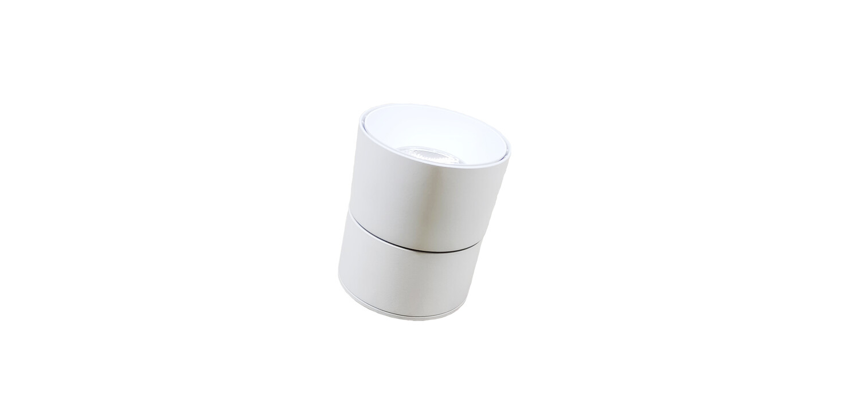 360* adjustable COB Surface Downlight White Body