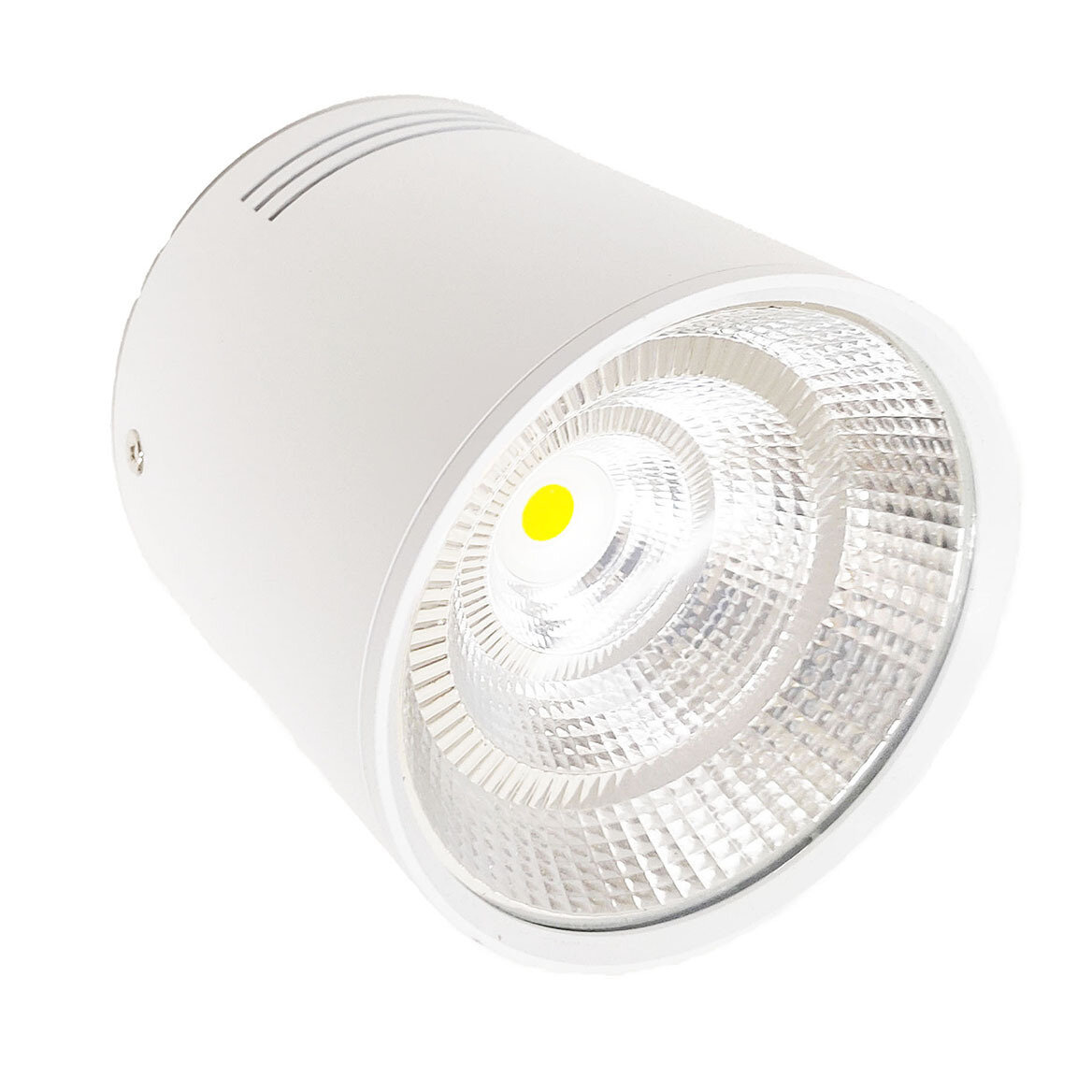 COB cylindrical surface mount Down light - White body