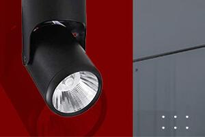 360* adjustable COB Surface Downlight Black Body