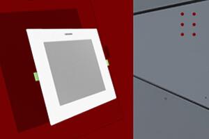 Edge-Lit Slim Led Square Downlight Panel