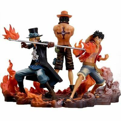 Luffy, Sabo, & Ace Figurine DXF Brotherhood II