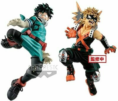 Izuku Midoriya et Katsuki Bakugo Set Figurines KING OF ARTIST