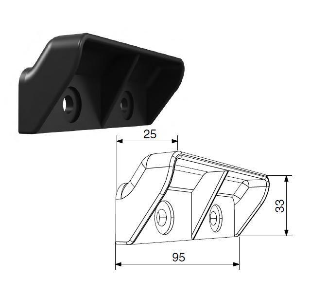 Ручка-ступенька накладная для секционных ворот (Для RSD01)
