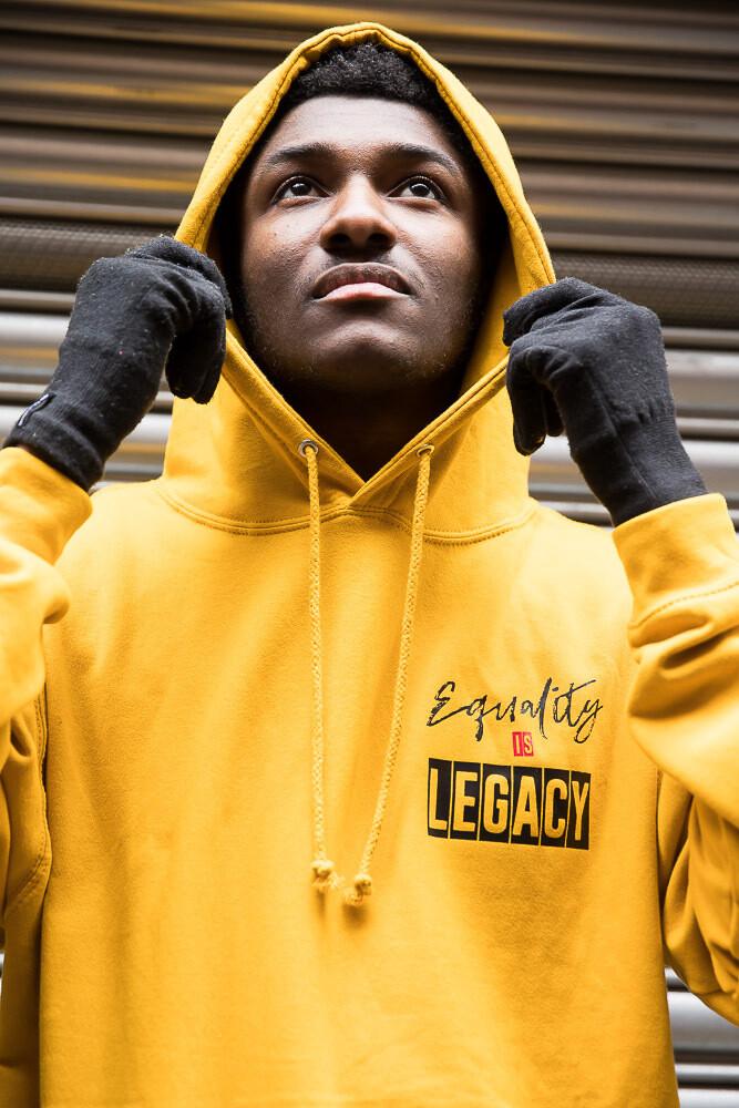 Equality hoodie in mustard