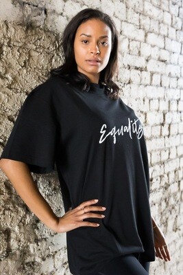 Oversized equality t-shirt in black