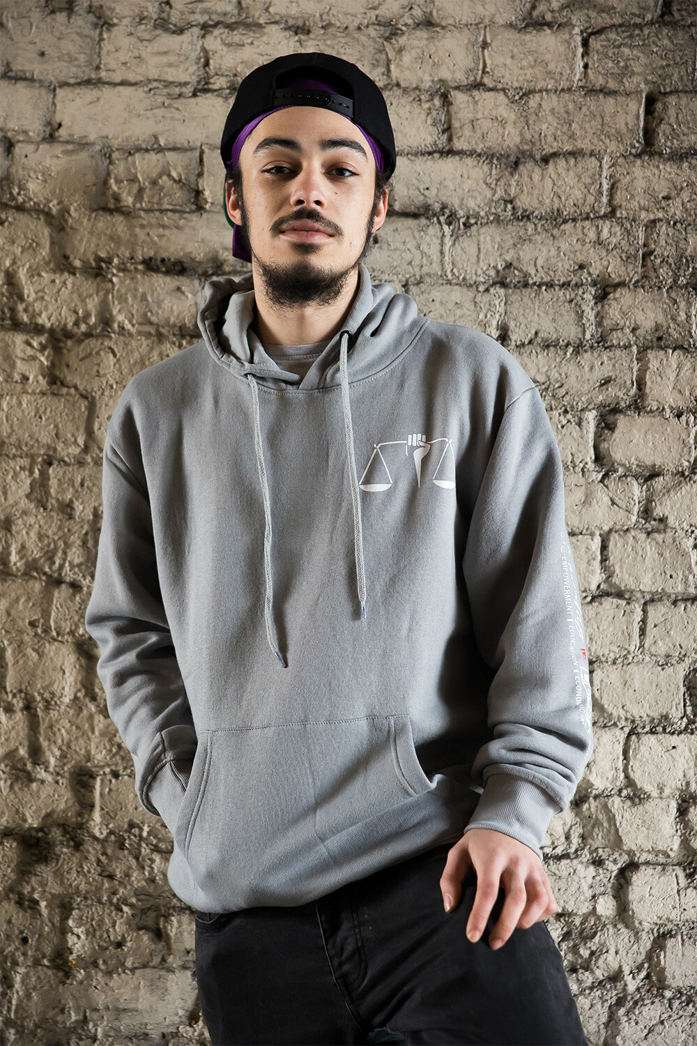 Equality scales hoodie in grey