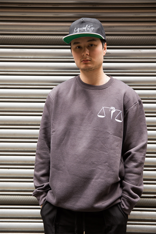 Equality scales sweatshirt in grey