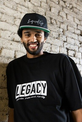 Oversized legacy t-shirt in black
