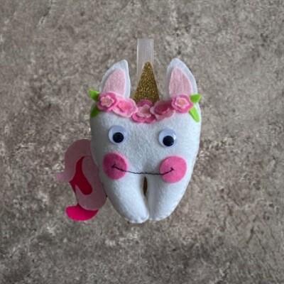 Unicorn or Ballerina Tooth Pillow