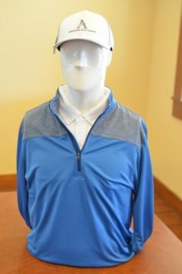 Adidas Men's 1/4 Zip Pull Over Outwear, Blue