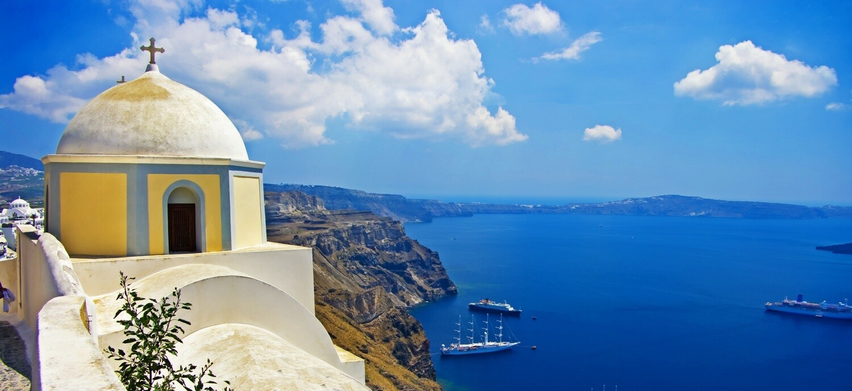 Cruise to Santorini Island