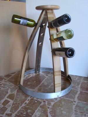 Porta 12 bottiglie +vassoio