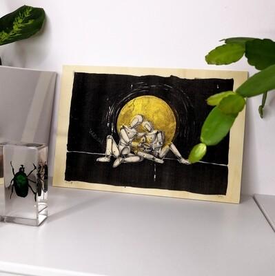 Felis IV (print on wood)