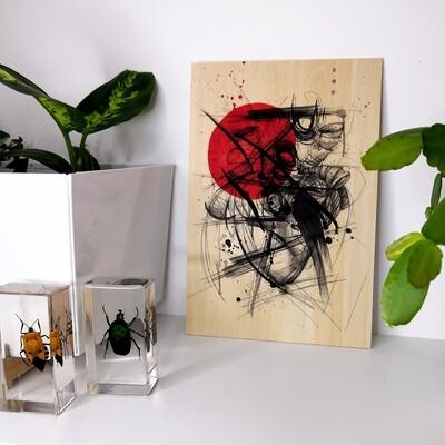 Rabia (print on wood)