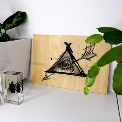 The All Seeing Eye (print on wood)