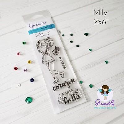 """2x6"""" Stamp - Garabatta Mily"""