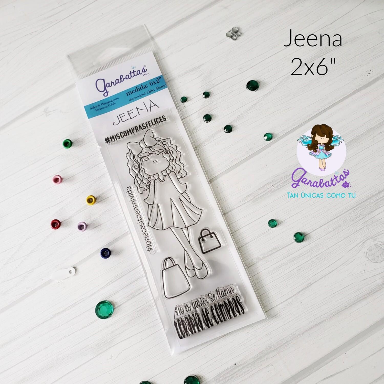 """2x6"""" Stamp - Jeena"""