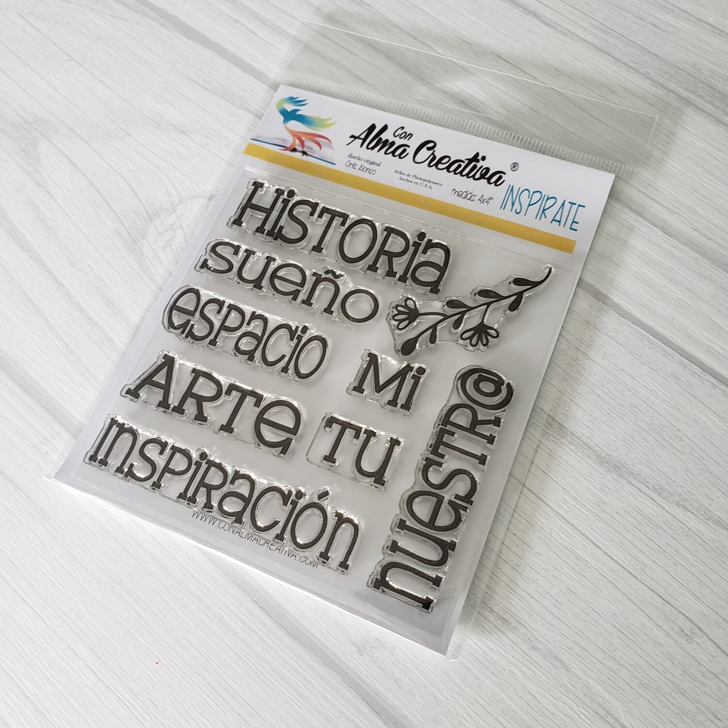 """4x4"""" Stamp - Get Inspired"""