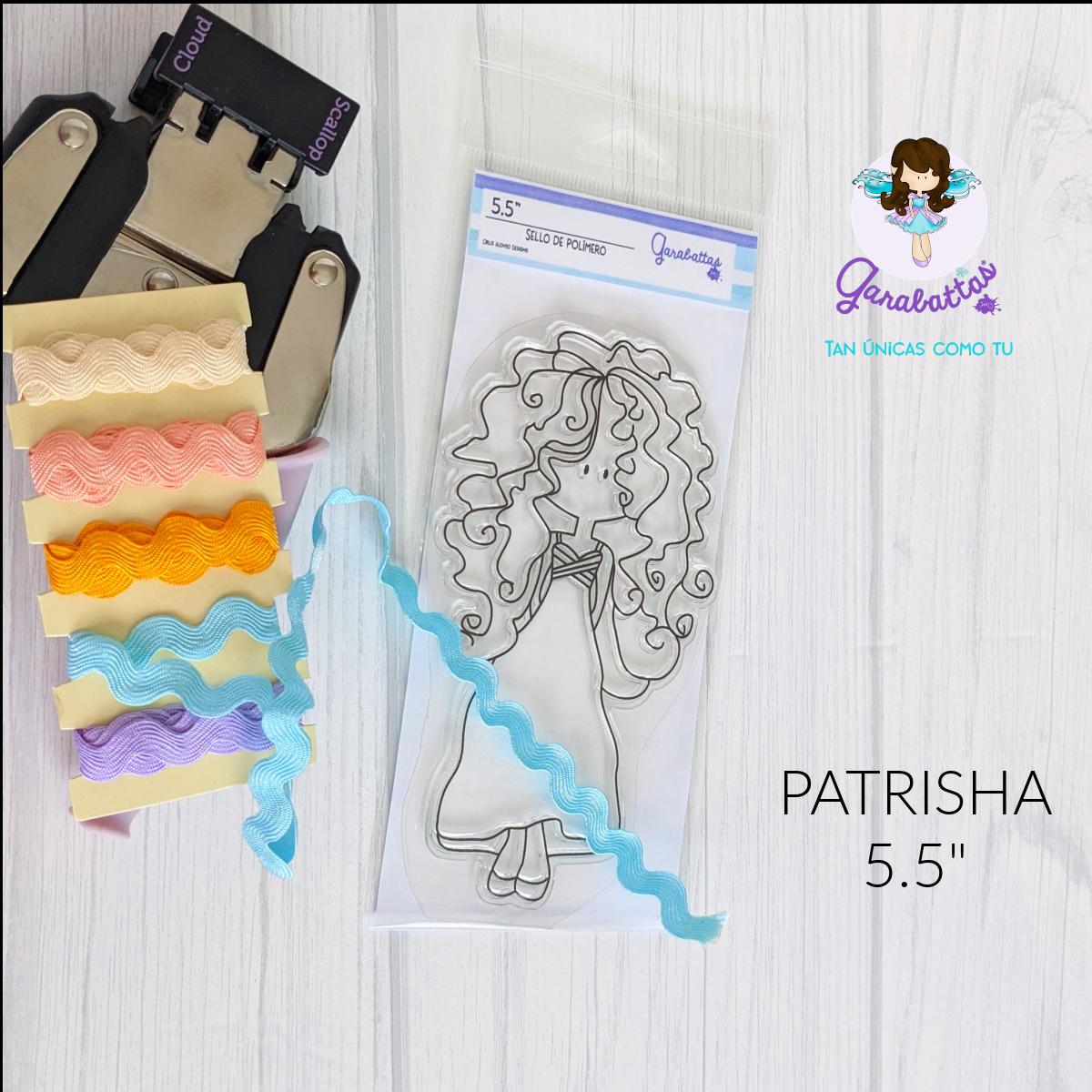 "Clear Stamp 5.5"" PATRISHA"