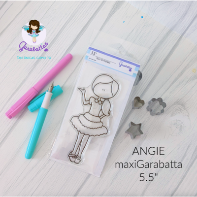 "5.5"" Stamp - Angie"