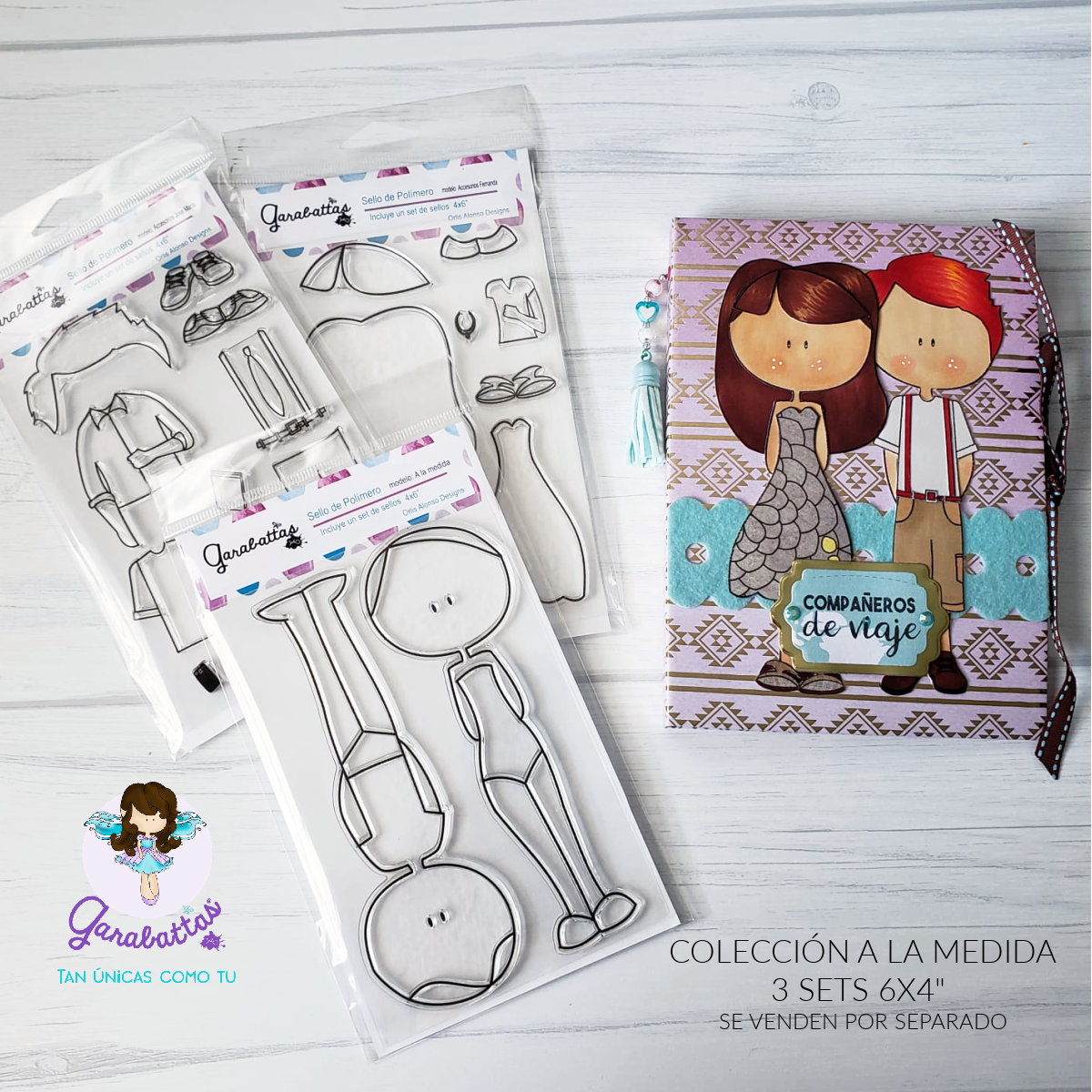 """6x4"""" TAILORED  3 STAMPS SET"""