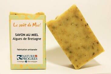 Savon  BIO au miel – Algues de Bretagne