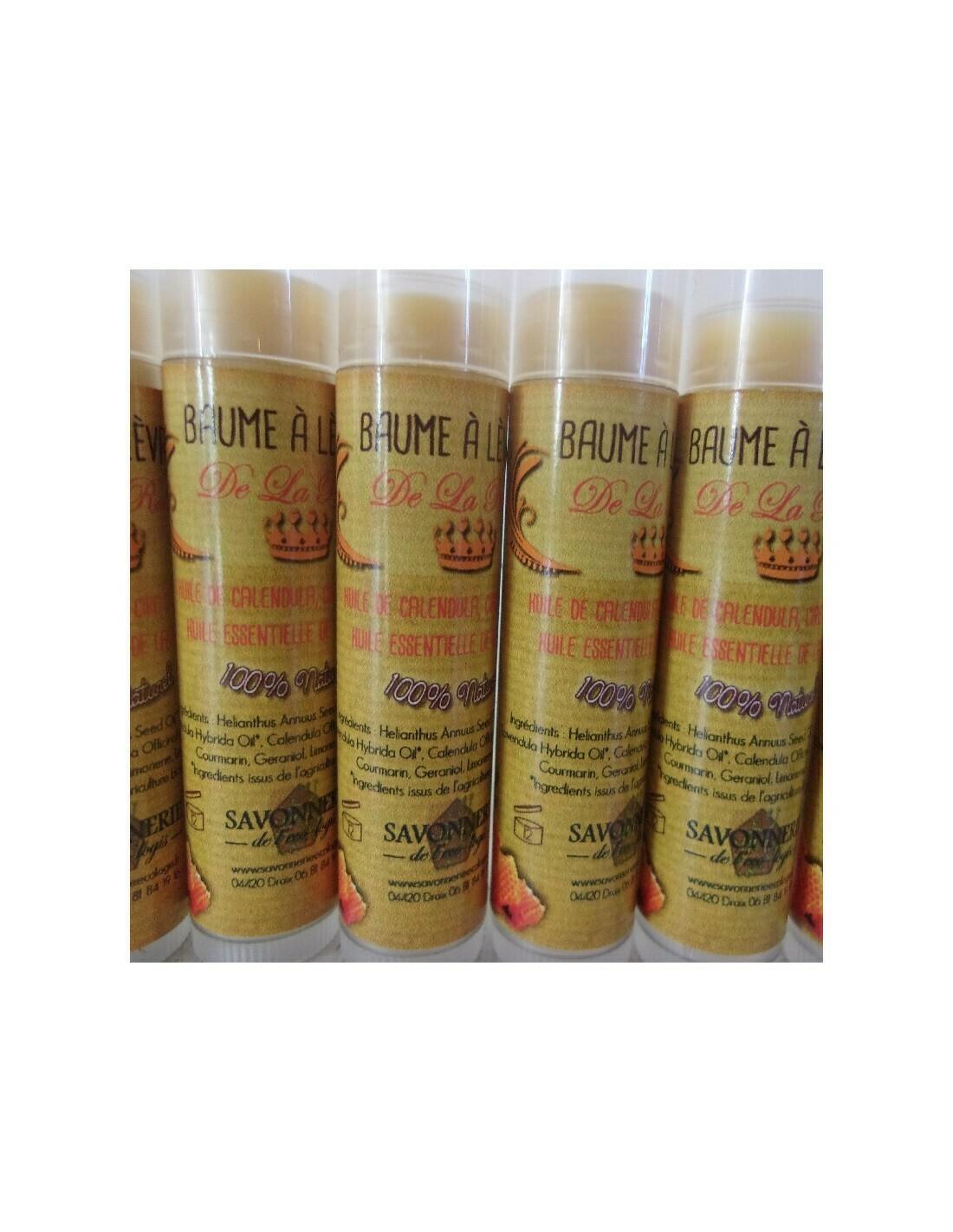baume à lèvres de la Reine cosmétique 100% naturel bio hydratant et apaisant à la cire d'abeille.