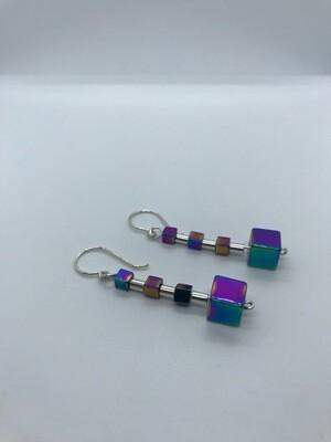 Festive Cubes and Tubes earrings