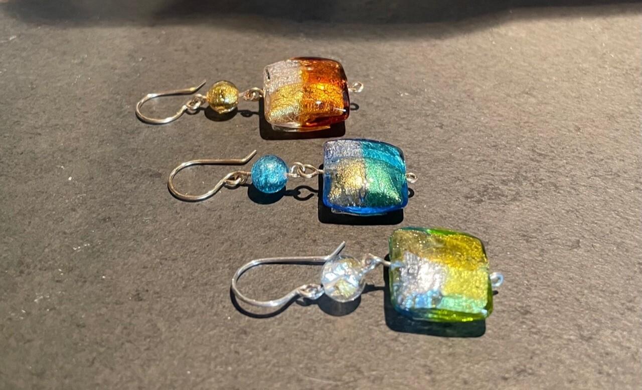 """Murano Glass """"Plaid"""" Squares"""