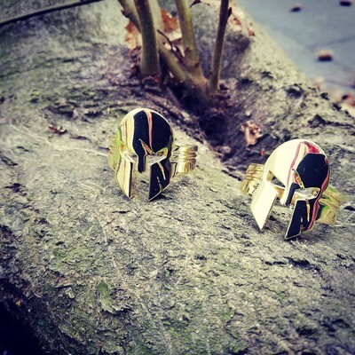 Golden Helmet Ring