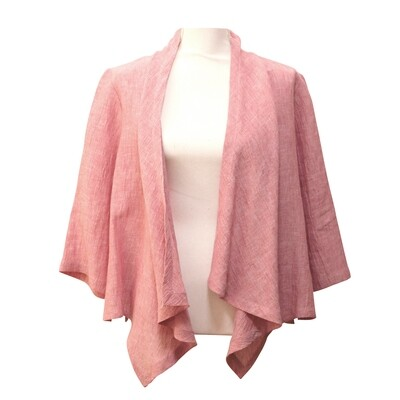 Crushed Linen Waterfall Jacket