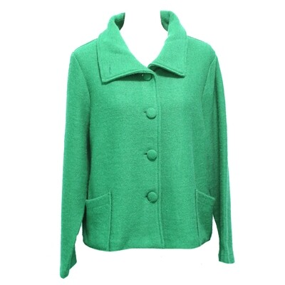 Boiled Wool Collar Button Front Jacket by See Saw