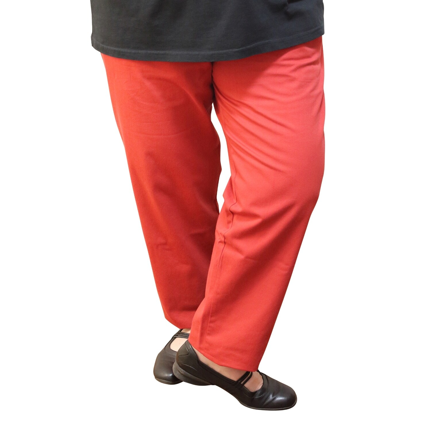 Cotton and Wool Blend Red Pants