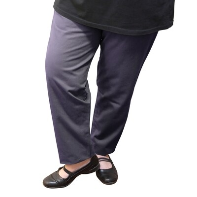 Cotton and Wool Blend Charcoal Pants
