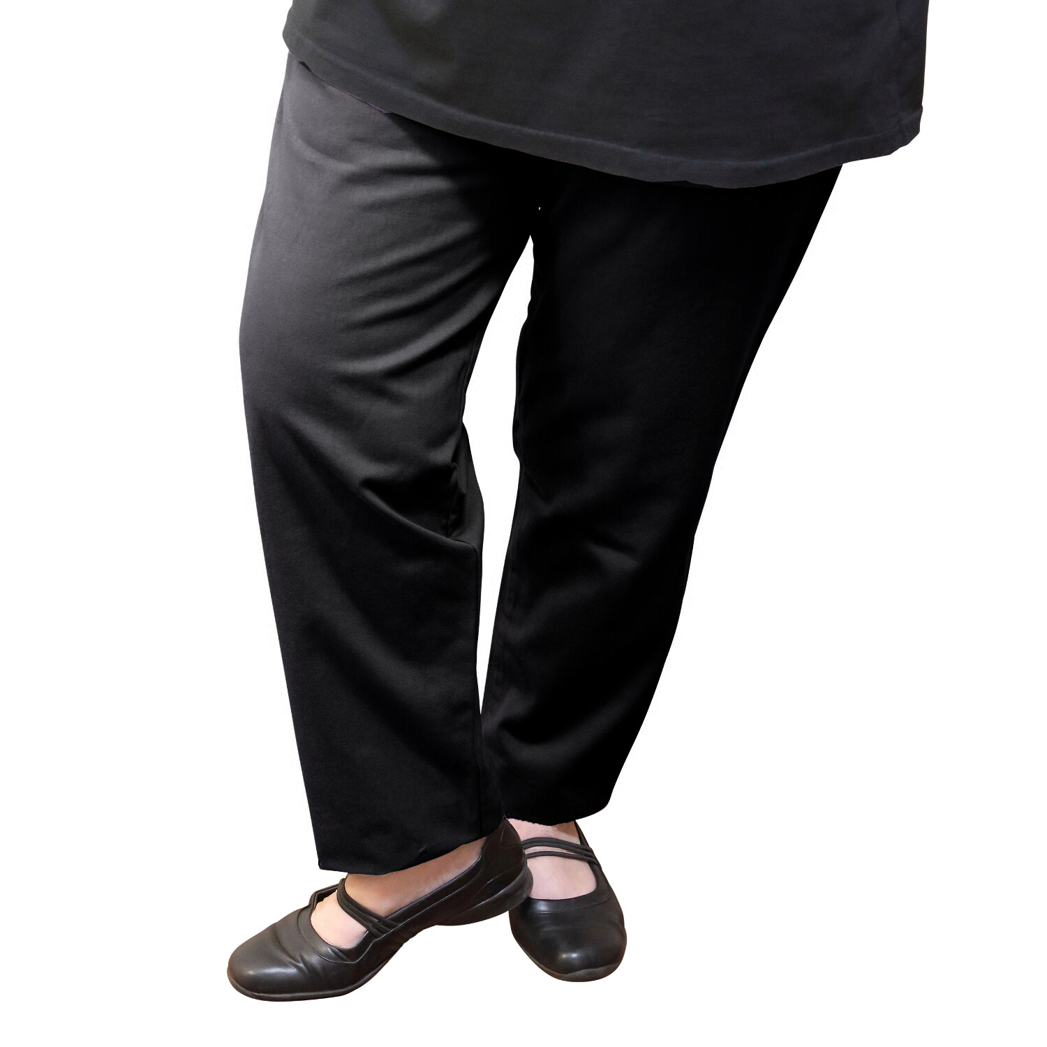 Cotton and Wool Blend Black Pants
