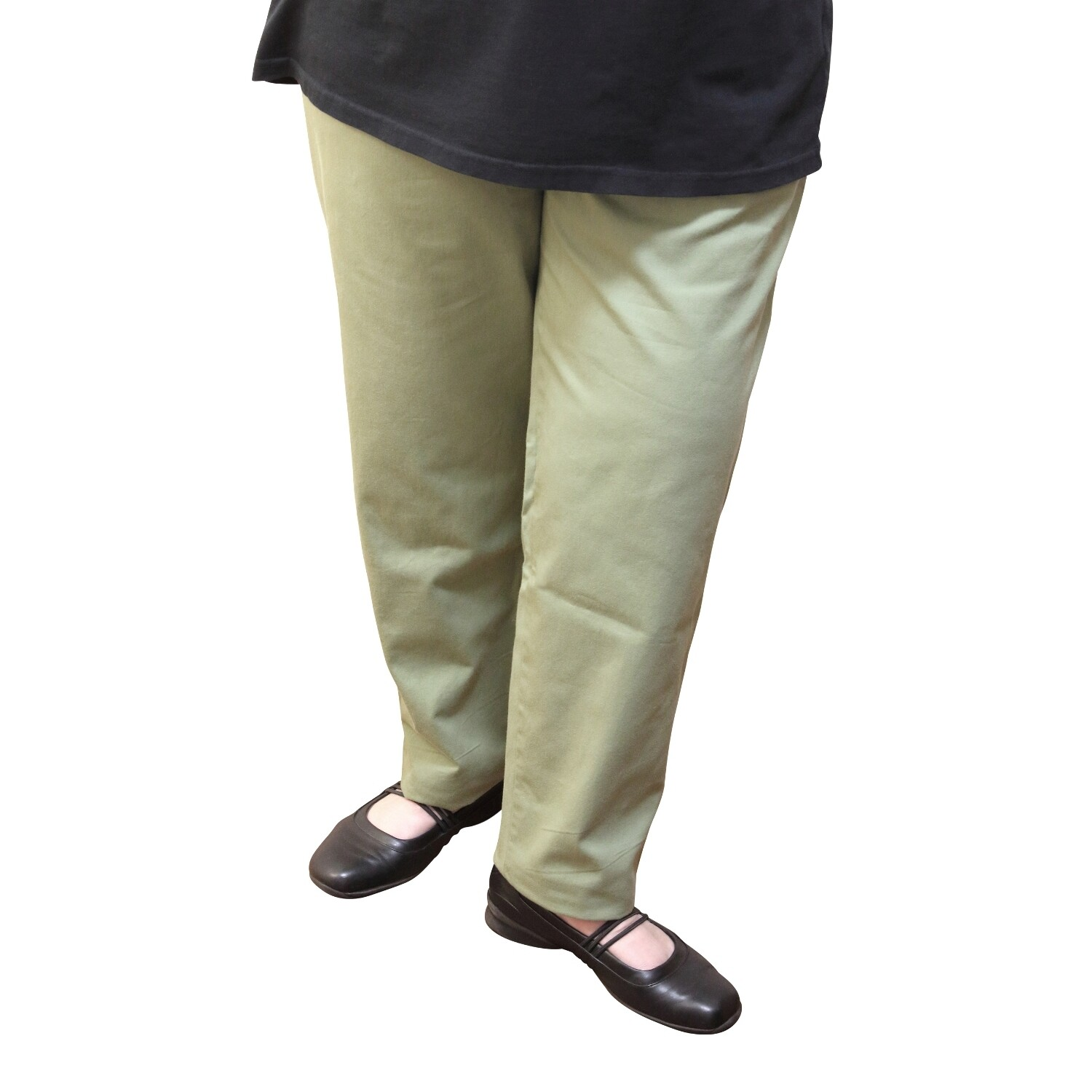 Cotton and Wool Blend Sage Pants