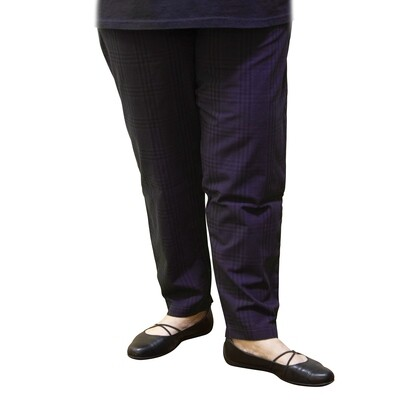 Lightweight Check Cotton Pants with Pockets