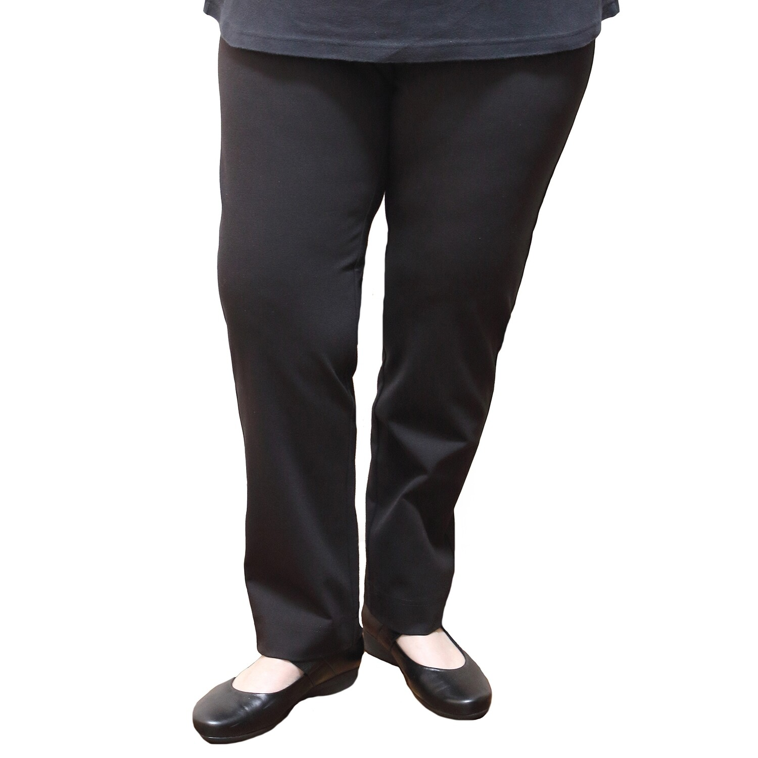 Straight Leg Bengaline Pull On Stretch Work Pants