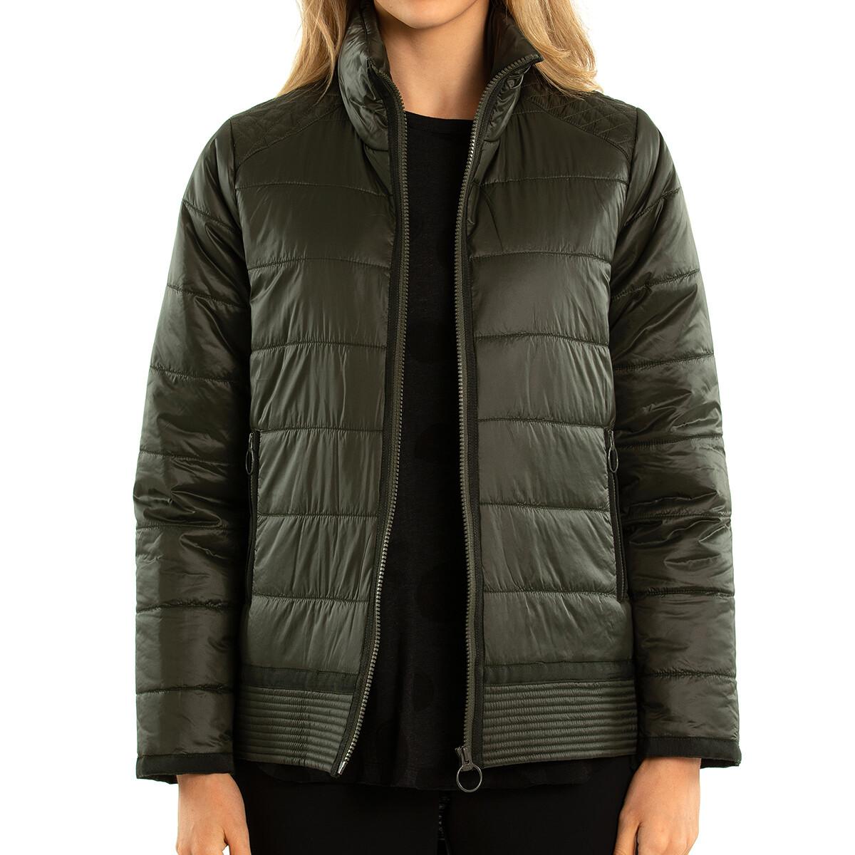 Zip Front Puffer Jacket