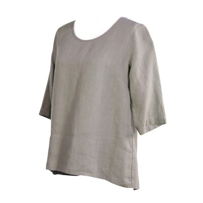 Pure Linen Hi Lo Top