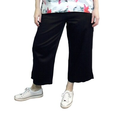 Extra Wide Cropped Cotton Pants