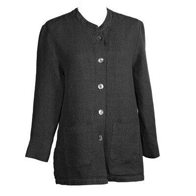 Relaxed Fit Linen Jacket