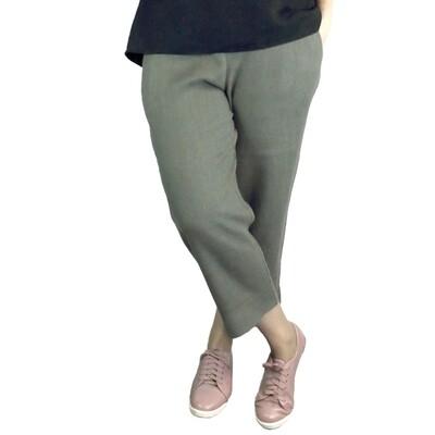 Pure Linen Crop Pants
