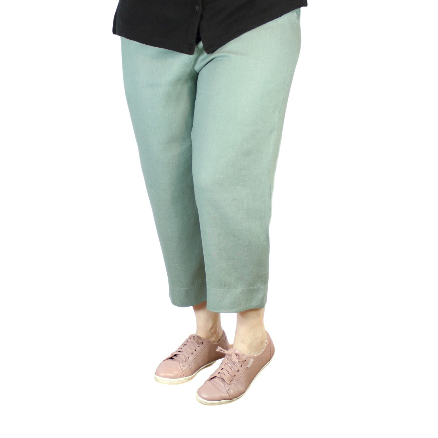Pure Linen Crop Pants