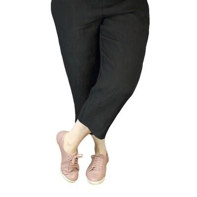 Pure Crinkle Linen Crop Pants