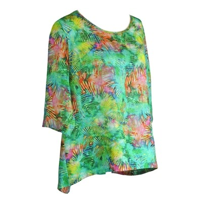 Tropical Print Hi Lo Top