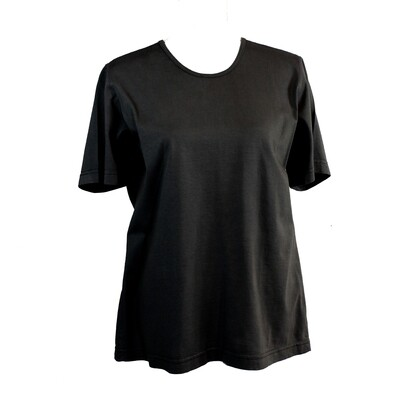 Soft Pure Cotton Black Tee